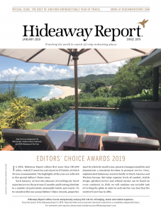 Hideaway Report – Editor's Choice Award 2019